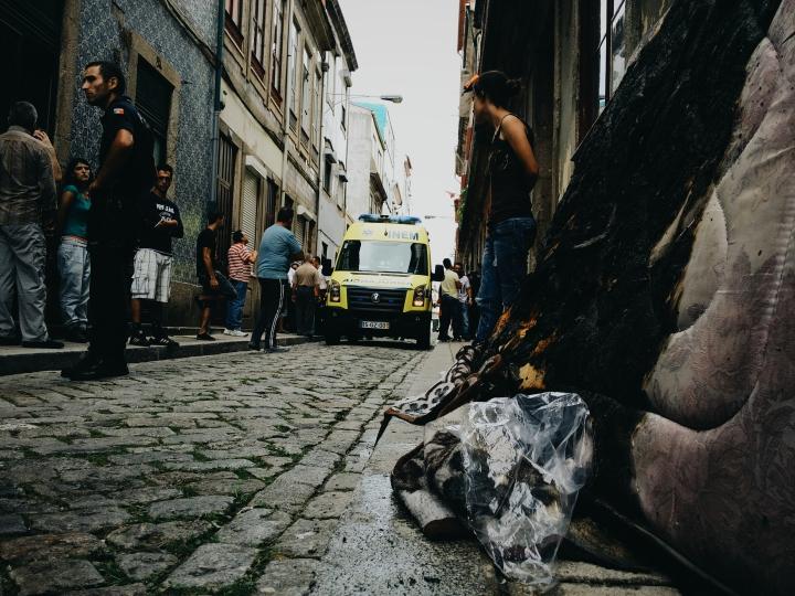 Comoção na Rua do Pinheiro, Porto.